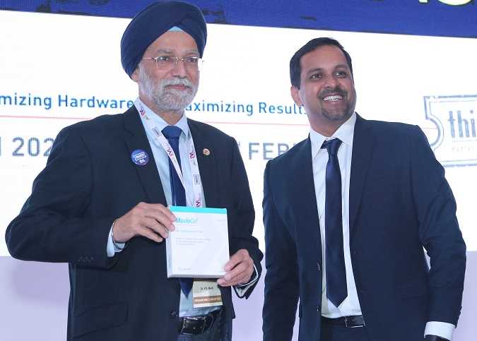 (L-R)- Dr. V. S. Bedi, Director and Chairman, Vascular and Endovascular Department, Sir Gangaram Hospital; Leo Mavely, CEO and Founder, Axio Biosolutions